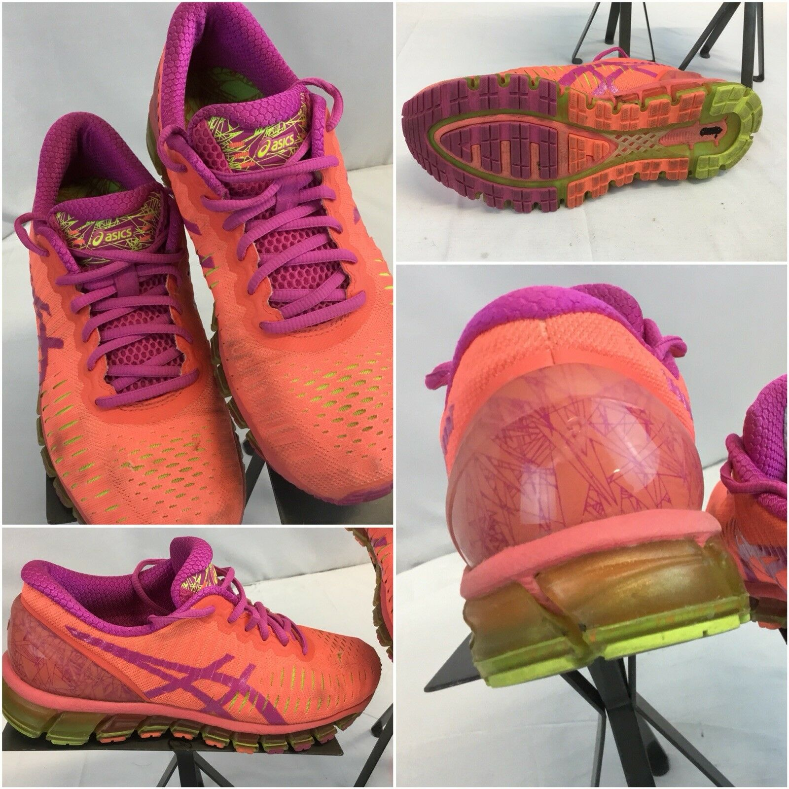 Asics Gel Quantum 360 Sz 8 Women Orange Running Shoes EUC YGI F8 Cheap and beautiful fashion