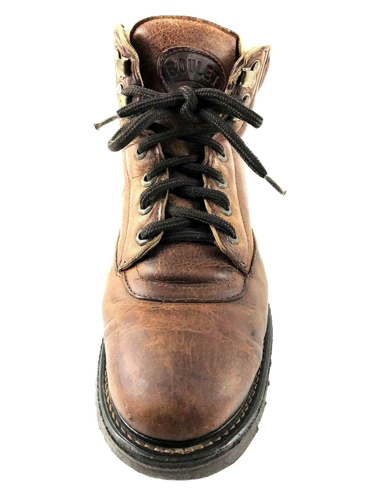 BOULET REAR MEN'S ANKLE BOOT BROWN SIZE US.8