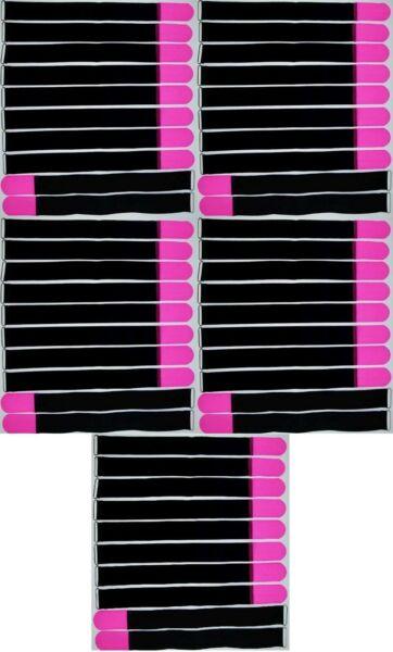 Expressief 50x Klettband Kabelbinder 50 Cm X 50 Mm Neon Pink Klettbänder Kabelklettband Öse