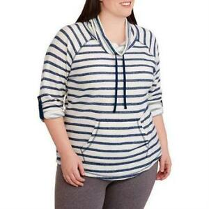Danskin-Now-Women-039-s-Plus-Size-Cotton-Polyester-Hoodie-Top