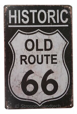 Historic Old Route 66 Funny Tin Sign Bar Cafe Garage Wall Decor Retro Metal Gift