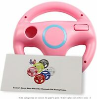 Gh Wii U Wii Steering Wheel Peach Pink For Racing Games, Mario Kart Racing