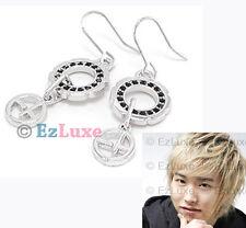 Korean Super Junior SUJU Sungmin Modern Circle Earrings