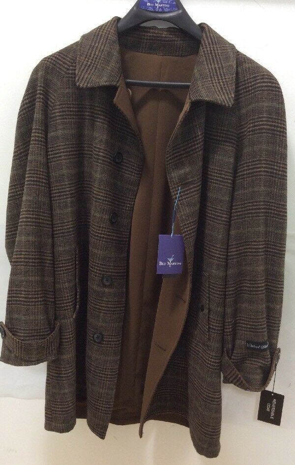 Uomo's CHRISTIAN DIOR Monsieur Monsieur Monsieur Olive verde Trench Cappotto Double-Breasted Lana Lined 102ee3