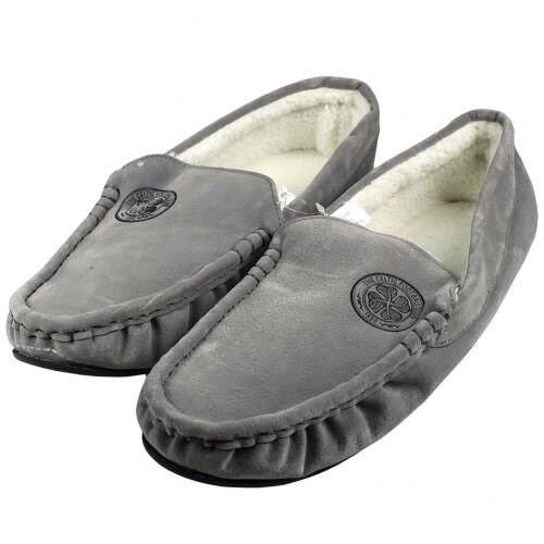 Celtic Football Club Mens Grey Moccasin Slippers Size 11 12 Free UK PP