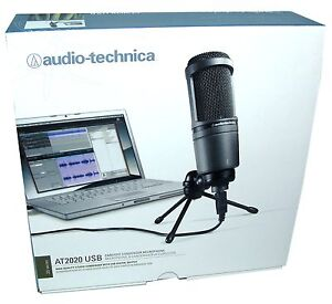 audio technica at2020usb cardioid condenser microphone with usb connection new. Black Bedroom Furniture Sets. Home Design Ideas