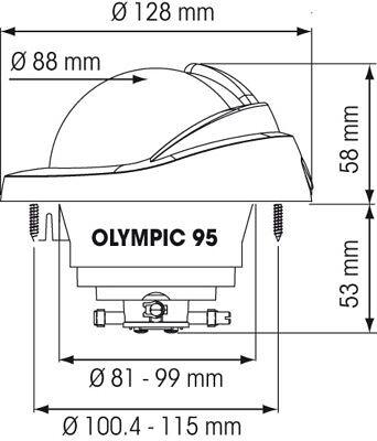 OLYMPIC 95 COMPASS PLASTIMO NAUTOS 56978