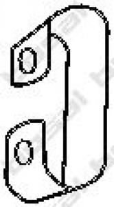 Halter Abgasanlage für Abgasanlage BOSAL 251-235