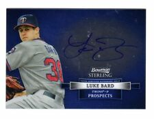 Luke Bard Mlb 2012 perspectiva Bowman Sterling autógrafos (Minnesota Twins)