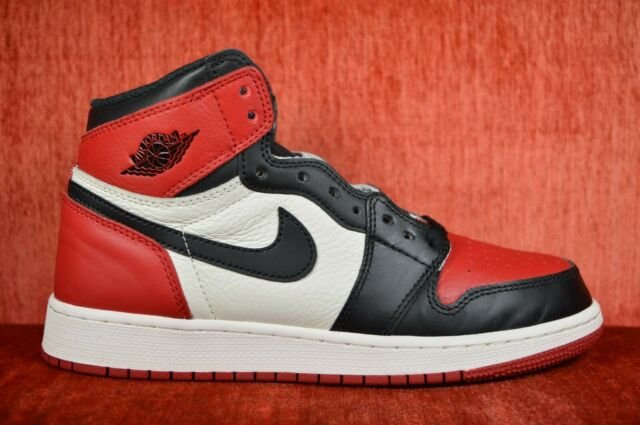 WORN TWICE Air Jordan 1 Retro High OG BG Bred Toe Size 6.5Y Black  575441-610 00