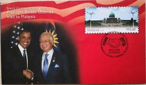 Malaysia FDC with Stamp (26.04.2014) - Present Barack Obama's Visit to Malaysia