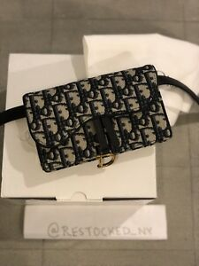 5587721bddef Image is loading NIB-Dior-Oblique-Saddle-Clutch-Belt-Bag