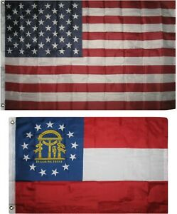 Wholesale Combo Lot of 3x5 USA Flag /& State of Florida 3x5 2 Flags Banner
