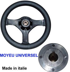 Volant-Noir-280mm-Moyeu-Central-cone-Universel-Bateau