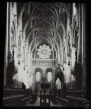 Glass Magic Lantern Slide OXFORD CATHEDRAL CHOIR LOOKING EAST C1890 ENGLAND L94
