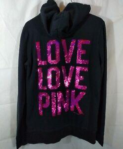 Victoria/'s Secret Pink Sequin Sweatshirt Oversized Size Small