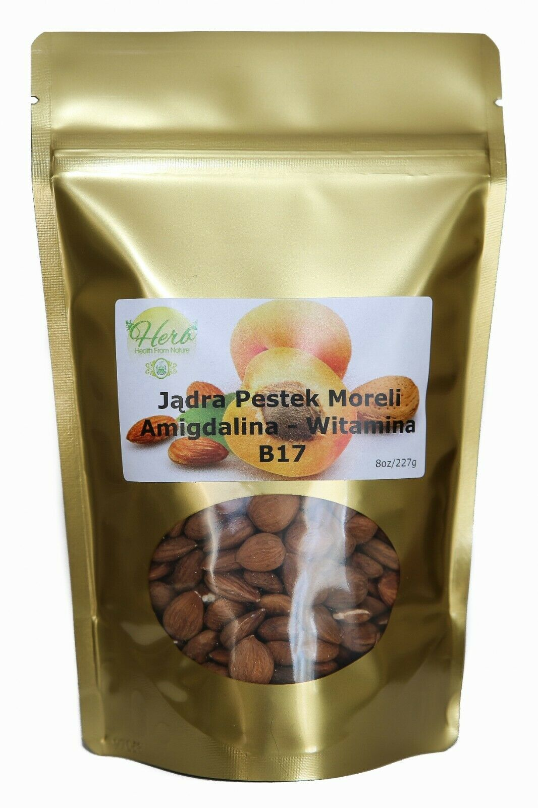 Bitter Raw Apricot Kernels Seeds – 8 oz B-17 AMYGDALIN SUPER SEED – HERB Health