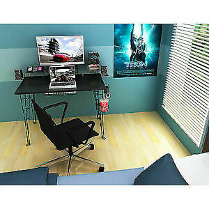 Super Atlantic Furniture Gaming Desk Black Carbon Fiber Gmtry Best Dining Table And Chair Ideas Images Gmtryco