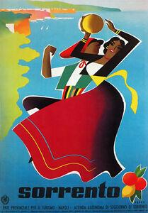 TV89-Vintage-1950-039-s-A4-Sorrento-Campania-Italy-Italian-Travel-Poster-Re-Print
