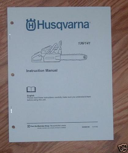 Husqvarna 142 chainsaw 1 pj18 owners manual 141 muffler service.