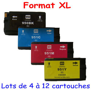 4-Cartouches-d-039-encre-compatibles-imp-HP-OfficeJet-Pro-8610-Pack-HP-950-951-XL