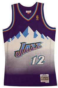 more photos 93bf9 3f85e Details about Utah Jazz John Stockton Mitchell and Ness Swingman Jersey XXL