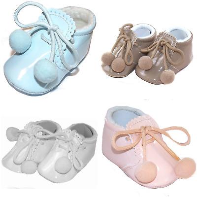 SPANISH BABY UNISEX POMPOM BOOTIES | eBay