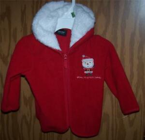 03bf6b1cf Baby s First Christmas Red Fleece Hooded Jacket 6 - 9 Months Boy or ...