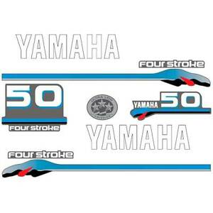 Image Is Loading Yamaha 50 Four Stroke Outboard Decal Aufkleber Adesivo