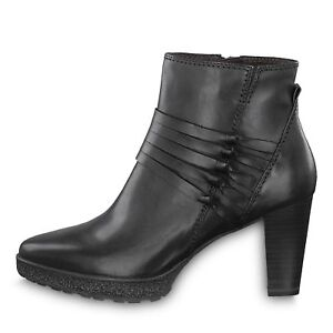 timeless design 71ff3 fb759 Details zu Womens Shoes Tamaris Wortmann 12532029001 Black Short Boot Med  Width $135 Retail