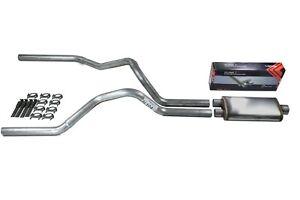 Silverado 07-13 dual exhaust 2.5 pipe Flowsound Muffler RW Tip