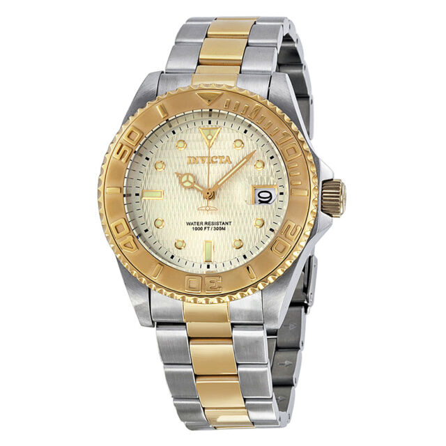 Invicta Pro Diver Champagne Dial Two-tone Ladies Watch 14343