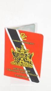 Republic of Trinidad & Tobago Flag Passport Cover Wallet Holder Protector