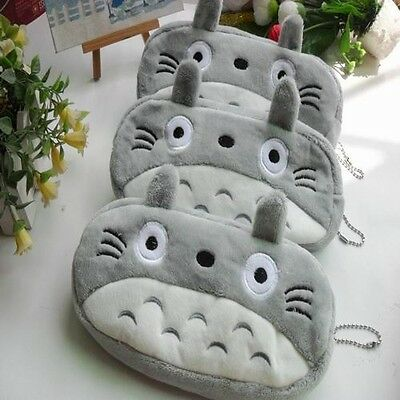 1Pc Cute Novelty Pencil Purse Cosmetic Pouch Case Bag Cartoon Gray Pattern Gift