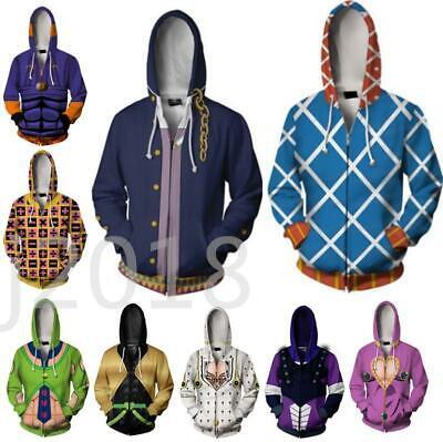 JoJo/'s Bizarre Adventure GUIDO MISTA Hoodies Sportshirt Jacket Full Zipper Coat