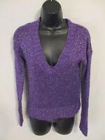 Mudd Cotton Blend Juniors Size M Royal Purple V Neck Sweater Sr $36