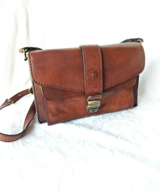 Vintage Coach Brown Leather Crossbody Bag