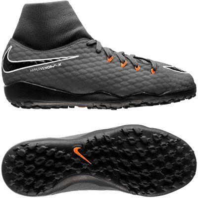 detailing aa41b 69807 Nike Kids Hypervenom PhantomX 3 Academy DF TF - Dark Gray ...