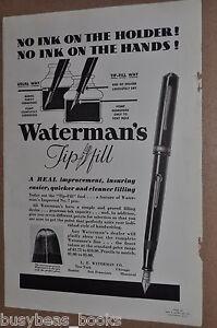 1933-Waterman-s-Fountain-Pen-advertisement-WATERMAN-Tip-Fill-pen