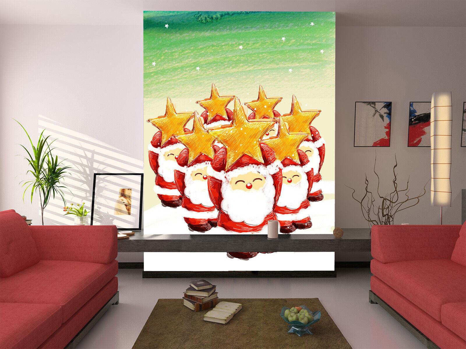 3D Santa Claus Dolls 7 Wall Paper Murals Wall Print Wall Wallpaper Mural AU Kyra
