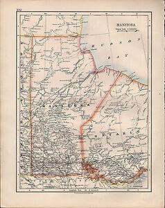 Carte Canada Manitoba.1914 Carte Dominion Du Canada Manitoba Wonlavd3 08121956