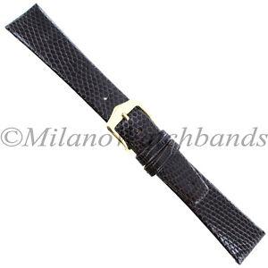 18mm-Gilden-Dark-Brown-Luxury-Flat-Genuine-Wild-Lizard-Tapered-Mens-Band-Reg