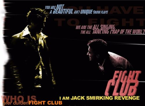 """Fight Club Hot Movie Art Silk Wall 32/""""x24/"""" Poster 017"""