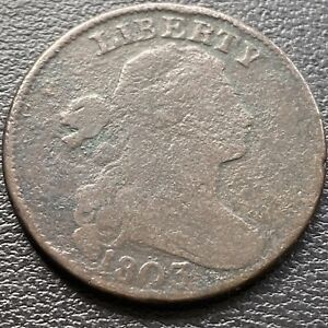 1803 Draped Bust Large 1c Better Grade  Rare #28964