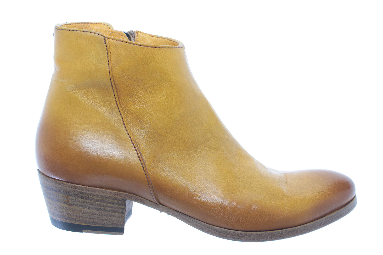 Leder 12160D PANTANETTI Gelb Schuhe Neu Italien Stiefeletten