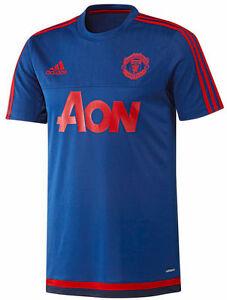 buy online 7c19a e6a93 ... Adidas-Manchester-United-Entrainement-Maillot-2015-16-Bleu-