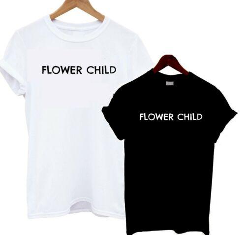 Flower Child T Shirt Slouch Tee Slogan Statement Hippy Free Spirit Plants Love