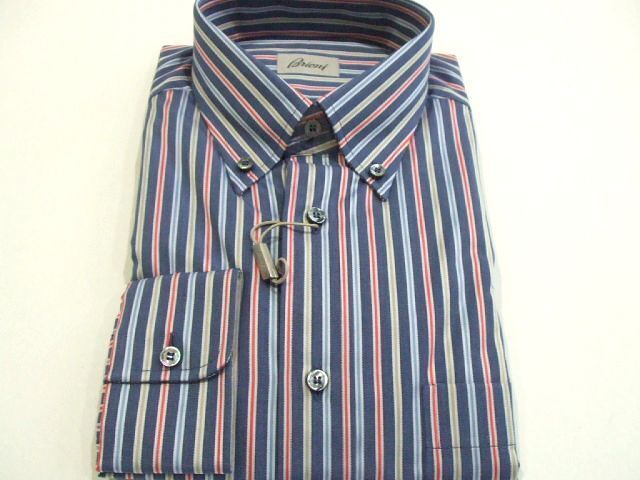 NEW 650,00   BRIONI dress SHIRT 100%Cotton SIZE III US 15.75 16  41 (SI 36)