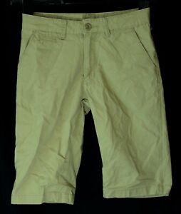 Ragazzi-H-amp-M-marrone-chiaro-chino-cotone-vita-regolabile-SMART-Pantaloncini-Eta-8-9-anni