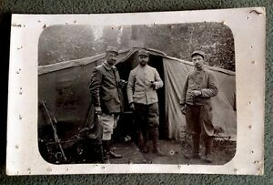 CPA-GUERRE-1914-1918-Photo-Militaires-Charles-Chalons-sur-Marne-Tente